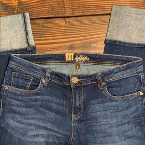 Jean capris. Size 8
